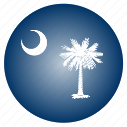 carolina, flag, south, state, us icon