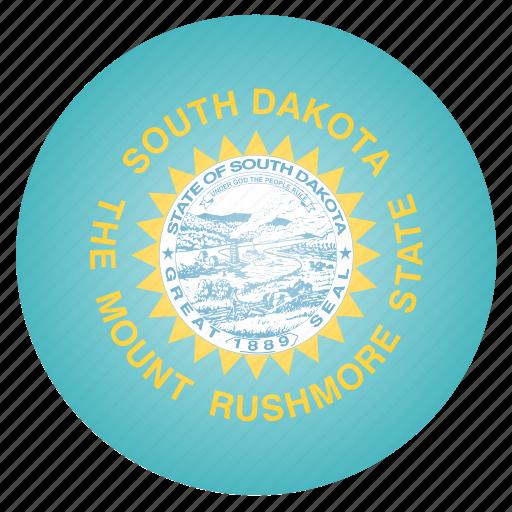 dakota, flag, south, state, us icon