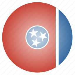 flag, state, tennessee, us icon
