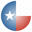 flag, state, texas, us icon