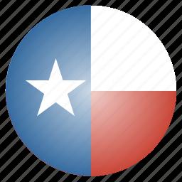 flag, state, texas, us icon