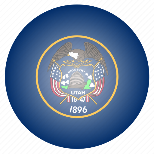 flag, state, us, utah icon