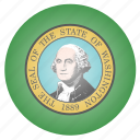 flag, state, us, washington icon