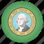 flag, state, us, washington icon