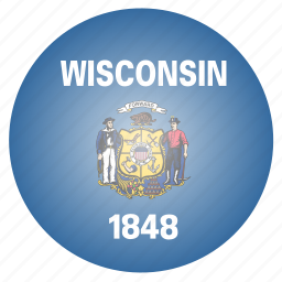 flag, state, us, wisconsin icon