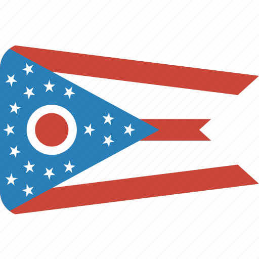 american, flag, ohio, rectangular, rounded, state icon