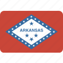 american, arkansas, flag, rectangular, rounded, state icon