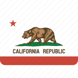 american, california, flag, rectangular, rounded, state icon