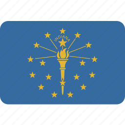 american, flag, indiana, rectangular, rounded, state icon