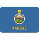 american, flag, kansas, rectangular, rounded, state icon
