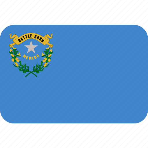 american, flag, nevada, rectangle, rectangular, state icon