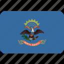 american, dakota, flag, north, rectangular, rounded, state icon