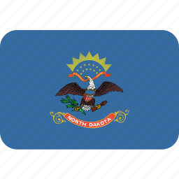 american, dakota, flag, north, rectangular, rounded, state icon