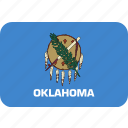 american, flag, oklahoma, rectangular, rounded, state icon
