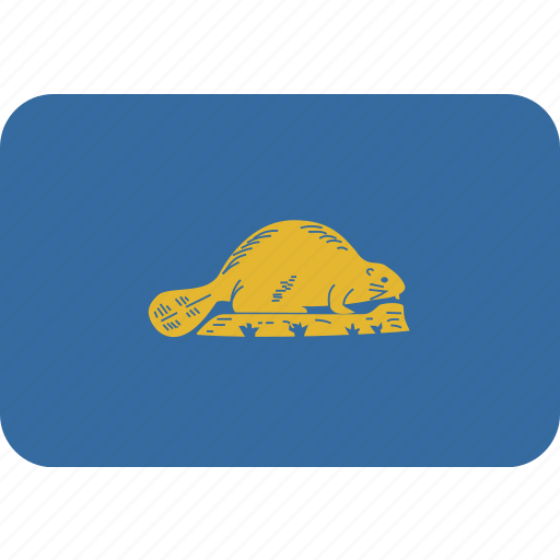 american, flag, oregon, rectangular, reverse, rounded, state icon