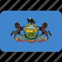 american, flag, pennsylvania, state icon