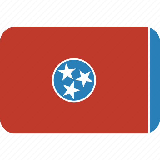 american, flag, rectangular, rounded, state, tennessee icon