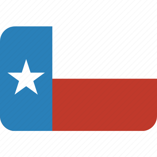 american, flag, rectangular, rounded, state, texas icon