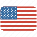american, flag, rectangular, rounded, states, united, usa icon
