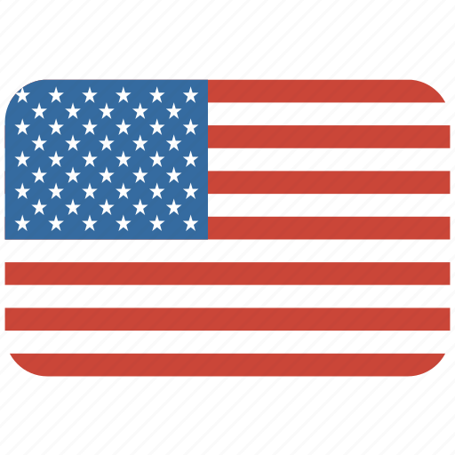 american, flag, rectangular, rounded, states, united, usa icon