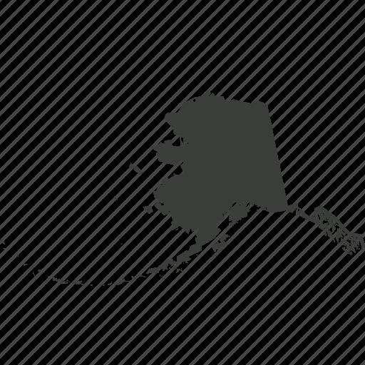 alaska, america, location, map, state, usa icon