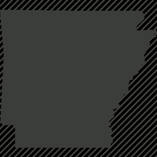 america, arkansas, location, map, state, usa icon