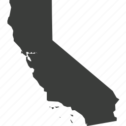 america, california, location, map, state, usa icon