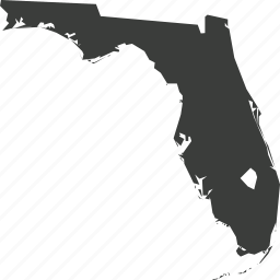 america, florida, location, map, state, usa icon