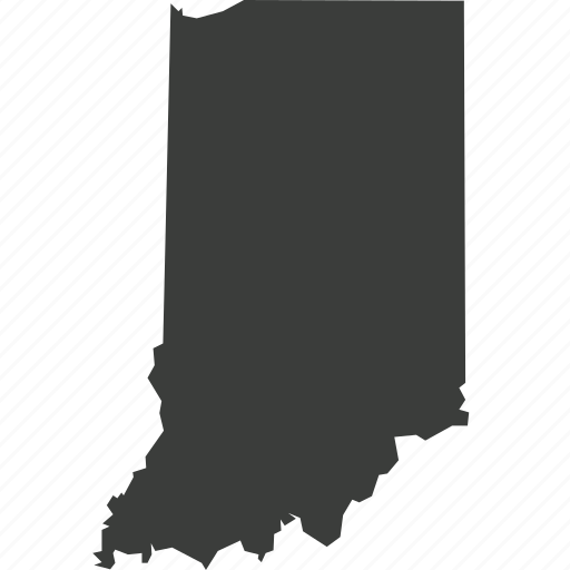 america, indiana, location, map, state, usa icon
