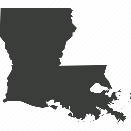 america, location, louisiana, map, state, usa icon