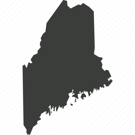 america, location, maine, map, state, usa icon