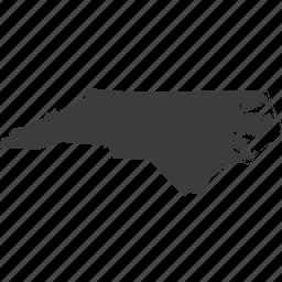 america, location, map, north carlina, state, usa icon