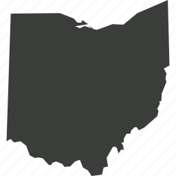 america, location, map, ohaio, state, usa icon