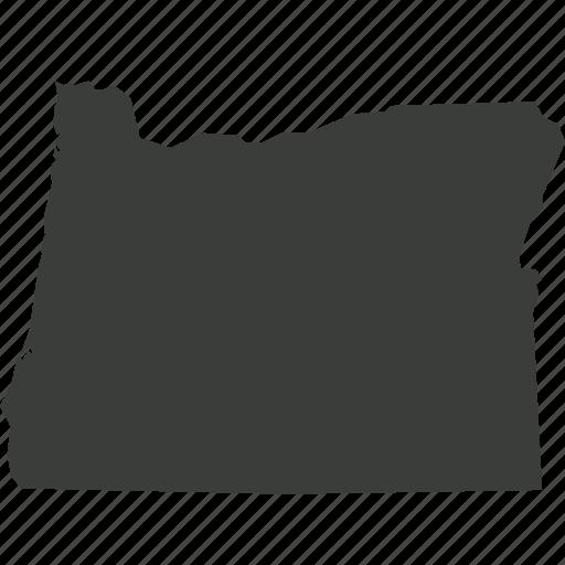 america, location, map, oregon, state, usa icon