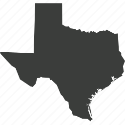america, location, map, state, texas, usa icon