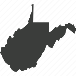 america, location, map, state, usa, west virginia icon