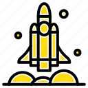 launcher, rocket, spaceship, transport, usa icon