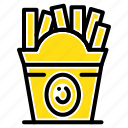 fastfood, food, frise, usa icon