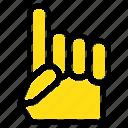 american, foam, hand, usa icon