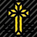american, church, cross
