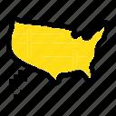 map, states, united, usa