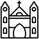 cathedral, chapel, church, religious building, synagogue icon