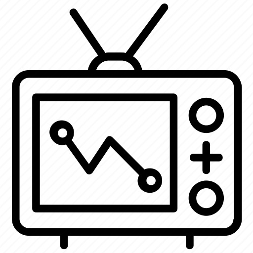 Antenna tv, television, tv, tv set, vintage tv icon - Download on Iconfinder