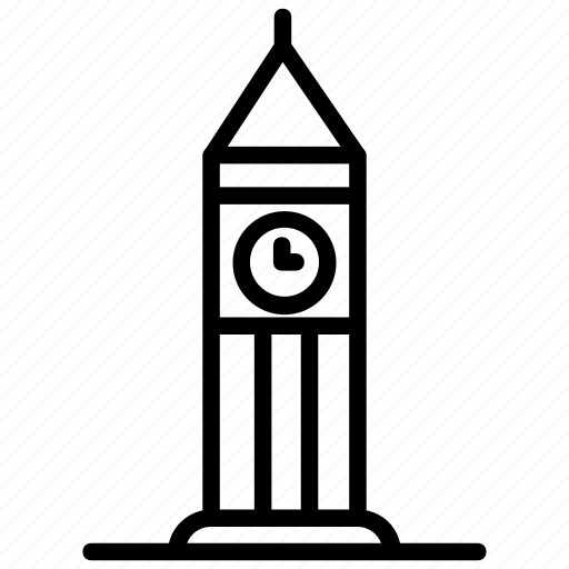 big ben, clock tower, elizabeth tower, london monument, palace westminster icon