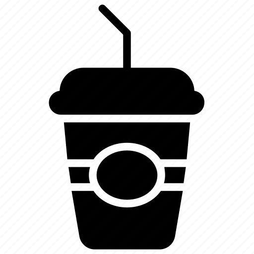 cold coffee, disposable cup, juice cup, paper cup, smoothie icon