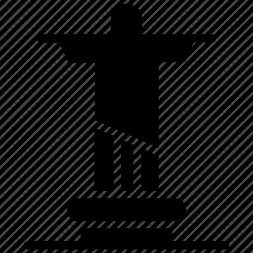 brazil statue, christ the redeemer, corcovado, landmark, monument icon
