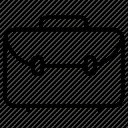briefcase, business case, laptop bag, office case, portfolio bag icon