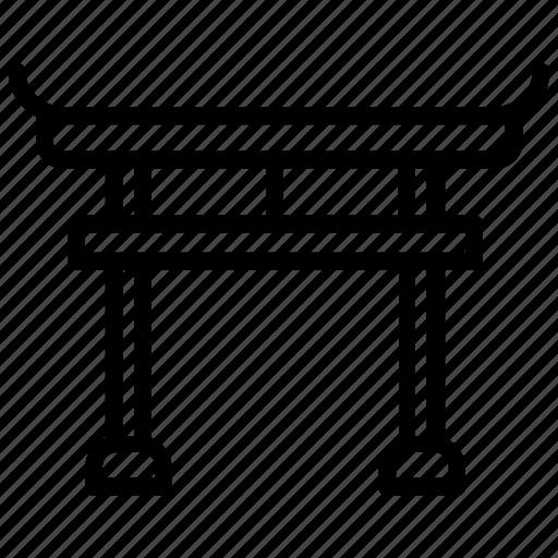 arch, itsukushima shrine, japanese gate, miyajima, torii gate icon