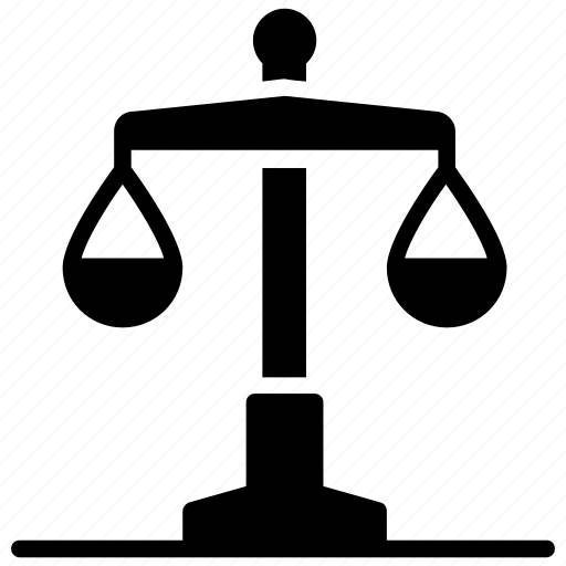 balance scale, justice scale, libra, measuring scale, weight scale icon
