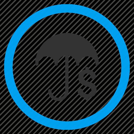 care, finance, financial protection, guard, money, safety, umbrella icon